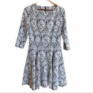 Eliza J Black and White Lace Dress